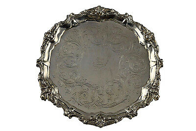 Gelston & Co. New York Coin Silver Footed Salver Circa 1837 - 1838