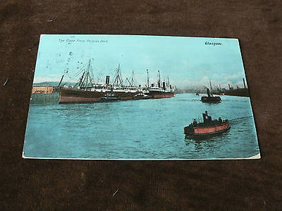 The Clyde from Princes Dock, Glasgow, Old 1905 Postcard, Ships, Boats