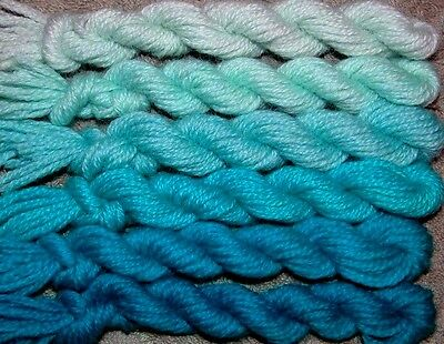 New Paternayan Wool 3ply Persian Yarn Needlepoint Crewel 590 Caribbean Blue