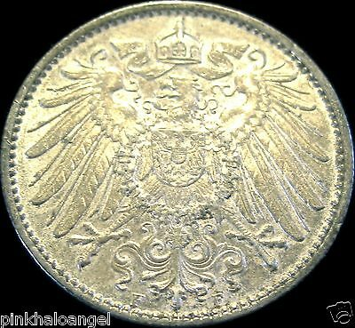 German Empire  German 1914F Silver Mark Coin  Rare High Grade
