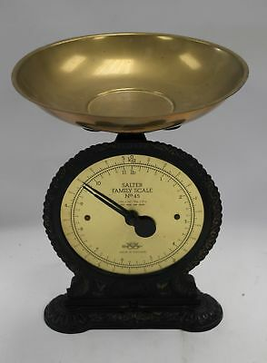 Vintage SALTER FAMILY NO.45 Brass & Cast Iron Weigh Scales  - D33