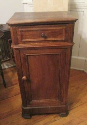French Louis Philippe Antique Bedside Nightstand Cabinet Louis XVI ANTIQUE 1800