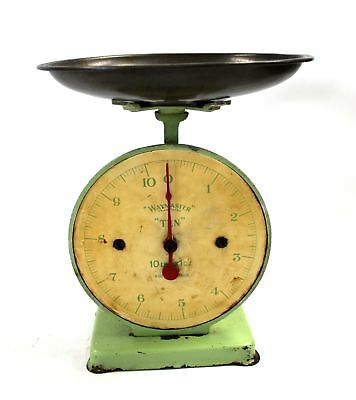 "Vintage Retro Mint Green WAYMASTER ""Ten"" Kitchen SCALES - Kitchenalia  - Y96"