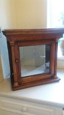 Antique Oak Grandfather / Longcase Clock Hood-  20 X20  11 Inches -