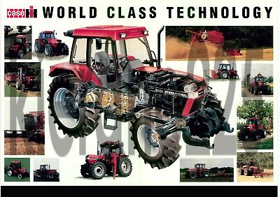 A3 CASE 5140 International David Brown Tractor Poster Brochure Leaflet Cutaway