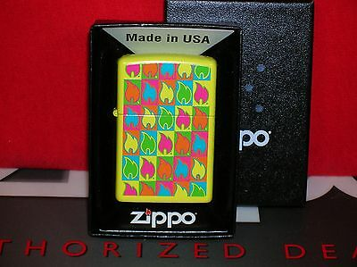 "New Zippo ""boxed Flames"" Lighter- #28954 - We Ship Fast-Save $$ Here!!"