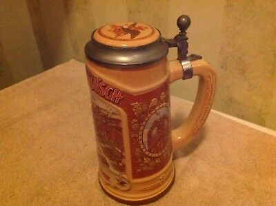 Anheuser -Busch lidded beer stein made in Germany