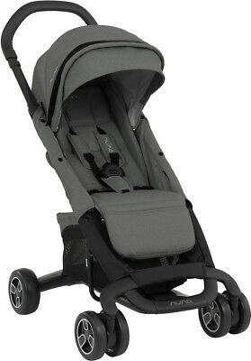 Nuna Baby Pepp Next Compact One Hand Fold Reclining Seat Single Stroller Frost