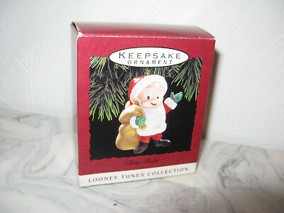 1993 Hallmark Looney Tunes Cartoon Santa Elmer Fudd Christmas Ornament