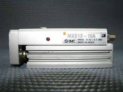 Pneumatic Slide Table, SMC, MXS12-10A, Used, Condition 4/5