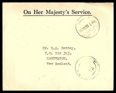 Chief Postmaster Tahawa Gilbert & Ellice Islands May 1956 Official Cover