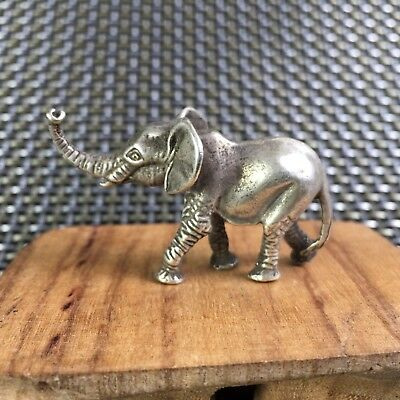 Old Collectible Tibet Silver Handwork Asian Elephant Rare Chinese Antique Statue