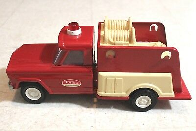 Vintage Tonka Truck Jeep Red & White Siren Emergency Fire Vehicle 52110 Rare