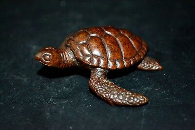 Rare Antiques Collectible Old Copper Handwork turtles Chinese figure Statue
