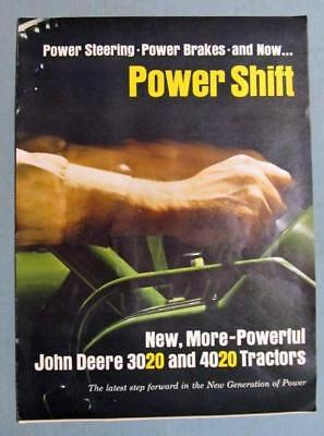 Original 1963 John Deere Tractor 5 Page Ad POWER SHIFT NEW 3020 & 4020 BEEFED UP
