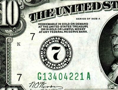 $10 1928 :::: CHICAGO ::::  Federal Reserve Note ** MORE CURRENCY FOR SALE **