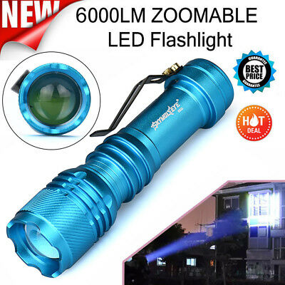 6000LM CREE Q5 AA/14500 Three Modes Zoomable LED Flashlight Torch Super Bright