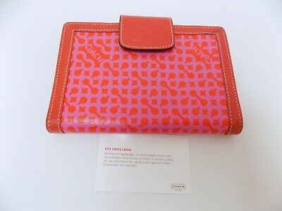 Coach Leatherware Signature Address Organizer Book Red-Pink Leather