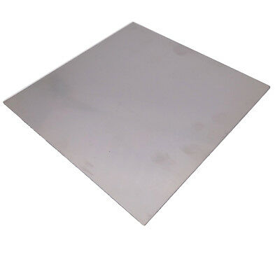 """US Stock 2pcs 1mm x 5"""" x 5"""" 304 Stainless Steel Fine Polished Plate Sheet"""