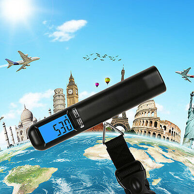 40kg/50g LCD Digital Electronic Hook Scale Fish Hanging Luggage Weight Portable