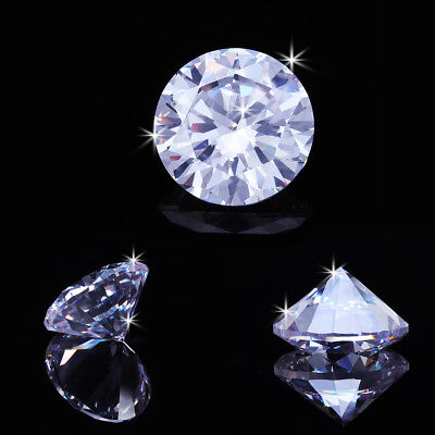 5/10/12/15/20mm Round D White VVS Simulated Hearts & Arrows Diamond Gemstones