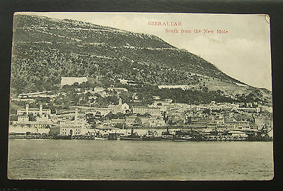 Postcard : Gibraltar : South From The New Mole : Posted 1909