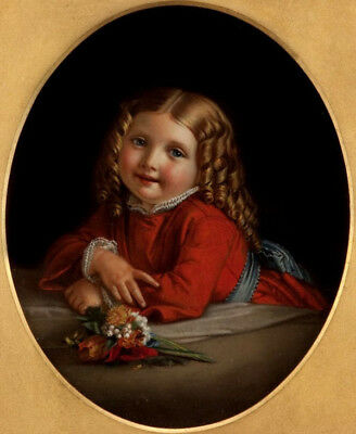 """oil painting 100% handpainted on canvas """"a lovely girl  with flowers"""""""