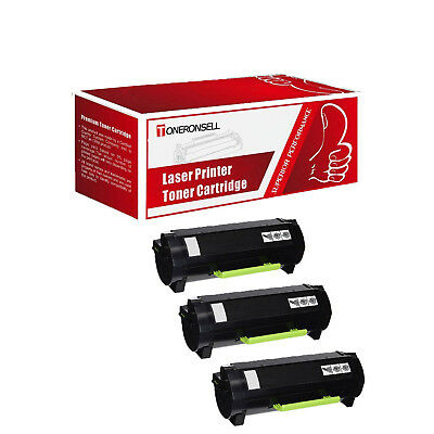 Remanufactured 3Pcs 51B1000 For Lexmark Made in USA Toner For MS317 MX317