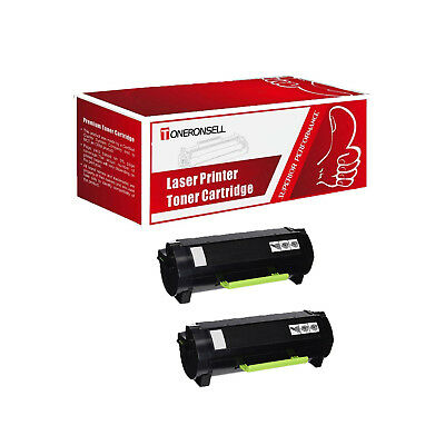 Remanufactured 2PK 51B1000 For Lexmark Made in USA Toner For MS317 MX317
