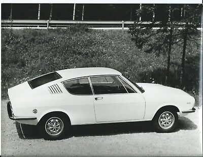 Audi 100 Coupe 1969 Original Press Photograph Autogerma #3 Stamped Rear view