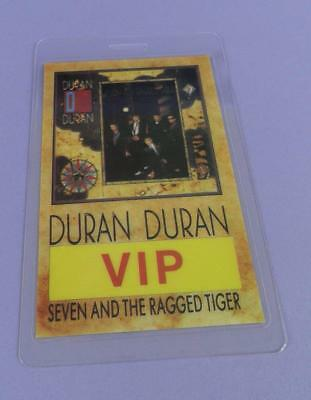 Duran Duran Seven And The Ragged Tiger Tour - Original VIP Pass - Unused