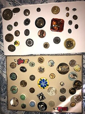 lot of 59 18th 19th Century super rare high end Buttons AMAZING DEAL!!