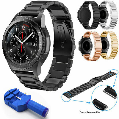 For Samsung Gear S3 Classic Frontier 22mm Stainless Metal Watch Band Bracelet