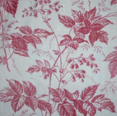 NEW STOCK BEAUTIFUL MID 19th CENTURY FRENCH LINEN COTTON TOILE DE JOUY 9.
