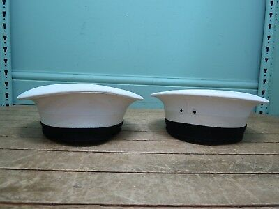 Vintage Pair of Army & Navy Portsmouth Sailors Hats - Size 6 5/8