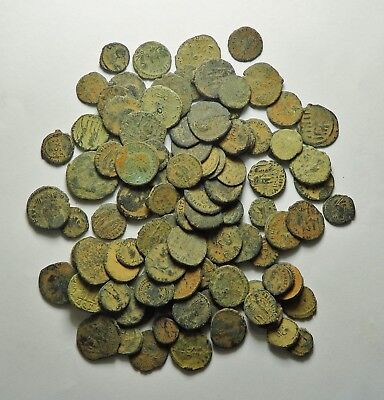 100 Small As Found Low Grade Roman Bronze Coins (160H)