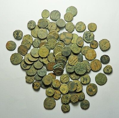 100 Small As Found Low Grade Roman Bronze Coins (162H)