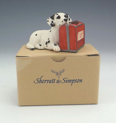 Sherratt & Simpson - Dalmatian Dog With Suitcase Figure - Lovely!