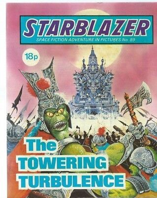 The Towering Turbulence,starblazer Space Fiction Adventure In Pictures,comic,89
