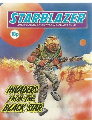 Invaders From The Black Star,starblazer Space Fiction Adventure,comic,no.87