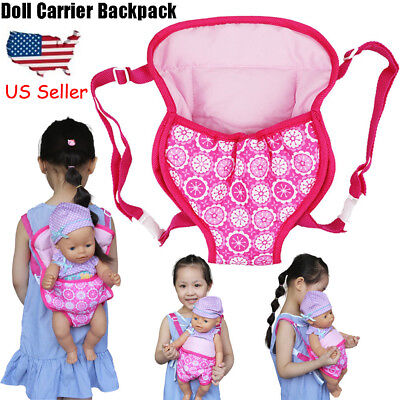 Baby Doll Carrier Backpack Doll Accessories Front/Back Carrier With Straps- Fits