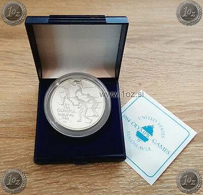 HUNGARY 500 FORINT 1984 (SARAJEVO CROSS COUNTRY SKIERS) SILVER Comm. coin *PROOF