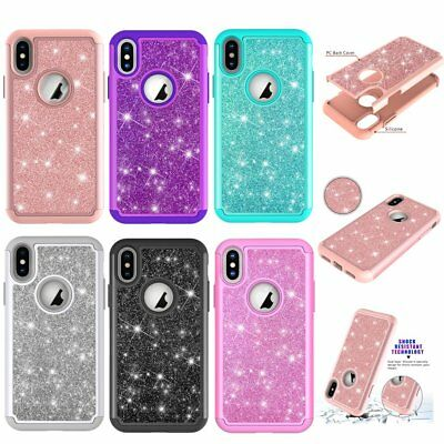 Solid Color TPU Silicone Crystal Phone Case Shock Proof For iPhone Samsung