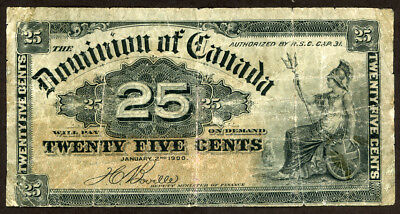 Canada 25 Cents 1900 Note  !!!! Vg