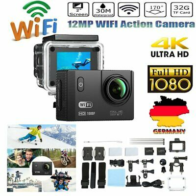 Ultra HD 1080P 12MP WiFi Sports Action Kamera DV Cam Camcorder HDMI Wasserdicht