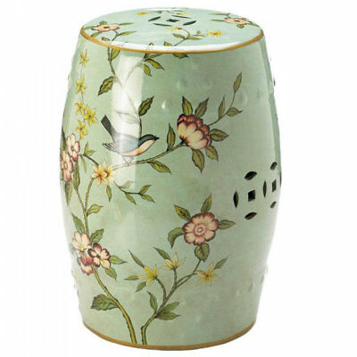 Beautiful Floral Ceramic Decorative Stool or Side Table Chair Sofa Stand Alone