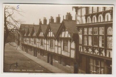Cheshire postcard - Old Houses, Park Street, Chester - RP (A83)