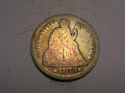 1873 S Seated Liberty Dime (Scarcer & Attractive)