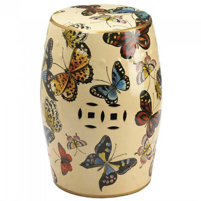 Beautiful Butterflies Decorative Stool or Side Table Chair Sofa or Stand Alone