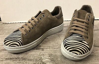 601c3c5cceb7c8 Destockage Baskets / Sneakers Marque Reqins En Cuir Taupe T 41 @ Neuf 109€  N106